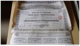 Russie 1912  Ciments De Portland De Konstantinofka Action De 250 Frs - Aandelen