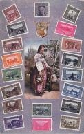 Bosnie Herzegovine - Femme Folklore - Représentation Timbres Postaux - Briefmarken Aus Bosnien U. Hercegovina - Bosnie-Herzegovine