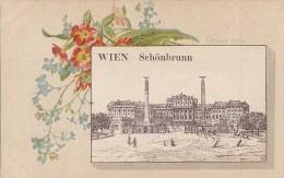 Autriche - Wien - Gruss Aus Wien Schönbrunn - Précurseur -  Fleurs Klein ? - Château De Schönbrunn