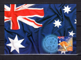"""AUSTRALIE 2003 : Carte Maximum Et PAP Neuf """" DRAPEAU ET EMBLEME AUSTRALIENS / ETOILES """". Parfait état. CM - Flags"""