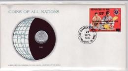 Mali 642 MÜNZ BRIEF COIN COVER LIONS CLUB AUFDRUCK OVERPRINT COIN HIPPO 1961 5 FR SURCHARGE 1978 - Mali (1959-...)
