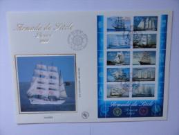 ROUEN.Armada Du Siècle 1999.Document Phil. (V.5 Clichés) - Documents De La Poste