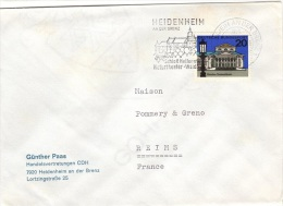 L-ALL148 - ALLEMAGNE N° 291 Sur Lettre De Heidenheim Pour Reims - Briefe U. Dokumente
