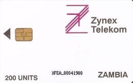 TARJETA DE ZAMBIA DE 200 UNITS DE ZYNEX TELEKOM