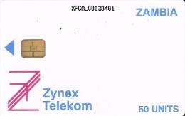 TARJETA DE ZAMBIA DE 50 UNITS DE ZYNEX TELEKOM