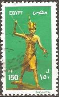 Égypte - 2002 - Statuette Du Pharaon Toutankhamon - YT 1734 Oblitéré - Egypt