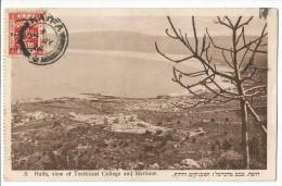 PALESTINE, ISRAEL, HAIFA, POSTCARD, NICE STAMP - Palestine