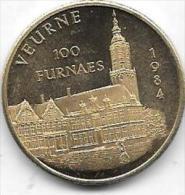 100 FURNAES 1984 VEURNE - Gemeentepenningen