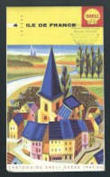 Cartoguide Shell Berre N°4 Ile De France De 1963/64 - Cartes Routières