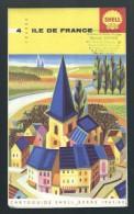 Cartoguide Shell Berre N°4 Ile De France De 1963/64 - Carte Stradali