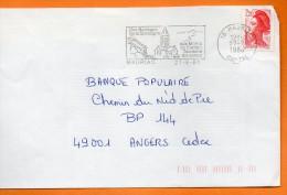 15 MAURIAC  DES BARRAGES DE LA DORDOGNE    27 / 8 / 1988  Lettre Entière 110x220 N° U 728 - Marcophilie (Lettres)