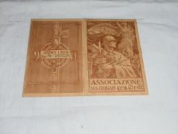 TESSERA ASSOCIAZIONE NAZIONALE COMBATTENTI - 1929 - TERAMO - Documenti Storici