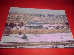 B561 Gerusalemme Panorama Innevato Non Viaggiata Pieghina Angolo - Palestina