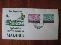 1962 Afghanistan - The World United Against Malaria - FDC (Medicine)(Health) - Afghanistan
