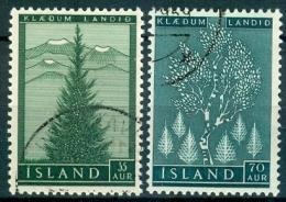 IJsland 1957 Bosbouw Serie GB-USED. - 1944-... Republik