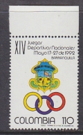 Colombia 1992 Juegos Deportives Nacionales 1v ** Mnh (27380B) - Colombia