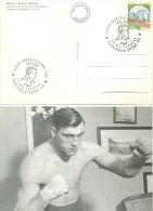 Cartolina Con Annullo Speciale PRIMO CARNERA - 1906/'67 - Friuliphila Sport 1989 - Personalità Sportive