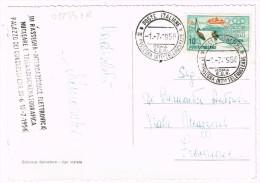 O1854 Roma - Palazzo Della Civiltà E Congressi EUR - III Rassegna Internazionale Elettronica Nucleare 1956 - Auto Cars - Mostre, Esposizioni