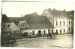 BIALOSLIWIE Photo Postcard Street Life Horse Carriages HOTEL OTTO ERDMANN Sent 1927 - Polen
