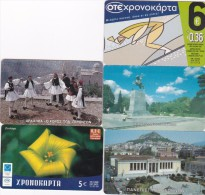 Greece Lot 5 Used Phonecards Lot 1 - Greece