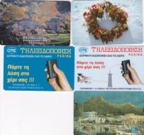 Greece Lot 5 Used Phonecards Lot 4 - Greece