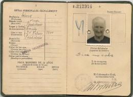 SPAIN - ESPAÑA - Rare  1957 PASSPORT -PASSEPORT -PASAPORTE For LA CORUÑA ILLITERACY Lady -see DESCRIPTION- Revenue Stamp - Documentos Históricos