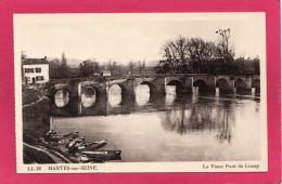 78 YVELINES MANTES-sur-SEINE, Mantes La Jolie, Le Vieux Pont De Limay, Barques, (CAP, Strasbourg) - Mantes La Jolie