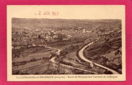12 AVEYRON VILLEFRANCHE-de-ROUERGUE, Route De Rieupeyroux, Vue Générale, 1947, La Roques - Villefranche De Rouergue