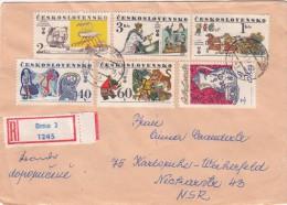 1977 LETTRE COVER  TCHECOSLOVAQUIE. RECOMMANDE BRNO TO KARLSRUHE GERMANY / 2204 - Non Classificati