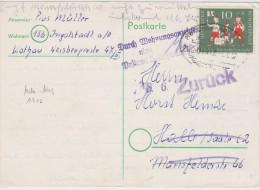 ALLEMAGNE 1957 CARTE DE INGOLSTADT CACHET FERROVIAIRE - BRD