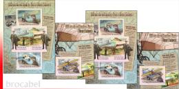 Burundi BL 0266/67** Henri Salmet - MNH - 4 Blocs: Full Set  ! Aviateur Français