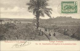 CANALISATION D'IRRIGATION DE LA PLANTATION CAIJO. PHOTO: R.VISSER - Congo Francés - Otros