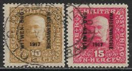 Bosnie-Herzegovine Oblitérér, Surchargé, No:115 à 116, Y & T,  USED, SURCHARGED 1917 - Bosnie-Herzegovine