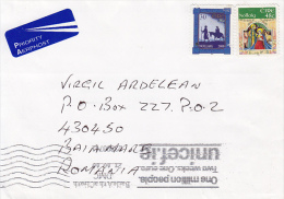37559- CHRISTMAS, JESUS' BIRTH, STAMPS ON COVER, UNICEF SPECIAL POSTMARK, 2010, IRELAND - Covers & Documents