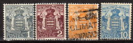 MONACO 1924 - MiNr: 73-77 Lot 4 Verschiedene  * / MH + Used - Monaco
