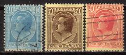 MONACO 1924 - MiNr: 78-96 Lot 3 Verschiedene  * / MH + Used - Monaco