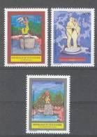 Cote Ivoire - Ivory Coast  (2000)  Yv. 1070/72  /  Sculpture - Escultura - Beeldhouwkunst
