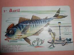 1er AVRIL - CPA Gaufrée - Poissons Humanisés ,  Pêche Et Loi  - - 1er Avril - Poisson D'avril