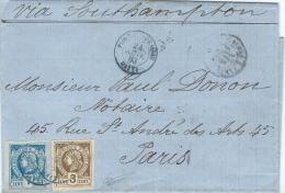 Haïti. Têtes De Liberté Non Dentelées 7c + 3c. Port Au Prince Pour Paris (24 Janvier 1883). TB - Haiti