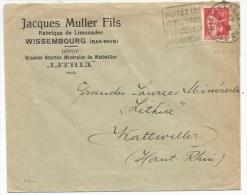 B964 - Daguin WISSEMBOURG - VISITEZ LES CURIOSITES ET MUSEES DE WISSEMBOURG - Bas Rhin - 1936 - Entête MULLER Limonades - Elsass-Lothringen