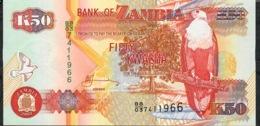 ZAMBIA   P37e   50   KWACHA   2003   UNC. - Zambia