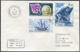 1983 TAAF Dumont D'Uville Antarctic Ship Cover - French Southern And Antarctic Territories (TAAF)