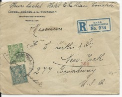 TURQUIE - 1920 - ENVELOPPE RECOMMANDEE De CONSTANTINOPLE BRITISH APO Pour NEW YORK (USA) - British Levant