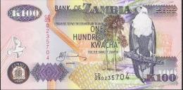 ZAMBIA   P38d2 100   KWACHA  2003 #CD/03 Printer :SABN   UNC. - Sambia