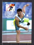 """AUSTRALIE 2004 : Carte Maximum Et PAP Neuf """" J.O. D´ATHENES 2004 : DON ELGIN """". Parfait état. CM - Summer 2004: Athens - Paralympic"""