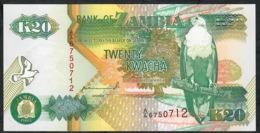 ZAMBIA P36a 20 KWACHA  1992  #A/A Signature 10  First Signature !   UNC. - Zambia
