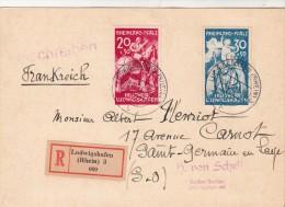 1948. Frz. Zone Rheinl.Pfalz Mi Nr. 30-31 Gest. Auf Brief. LUDWIGSHAFEN - ST GERMAIN EN LAYE  / 2870 - Zona Francese