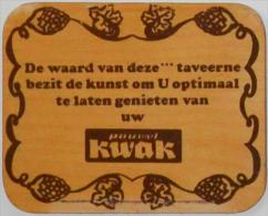 Sous-bock En Bois 3mm Pauwel KWAK Bierdeckel Beermat Bierviltje (CX) - Sous-bocks