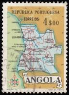 ANGOLA - Scott #391 Map Of Angola / Used Stamp - Angola