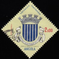 ANGOLA - Scott #464 Arms Of Henrique De Carvallo / Used Stamp - Angola